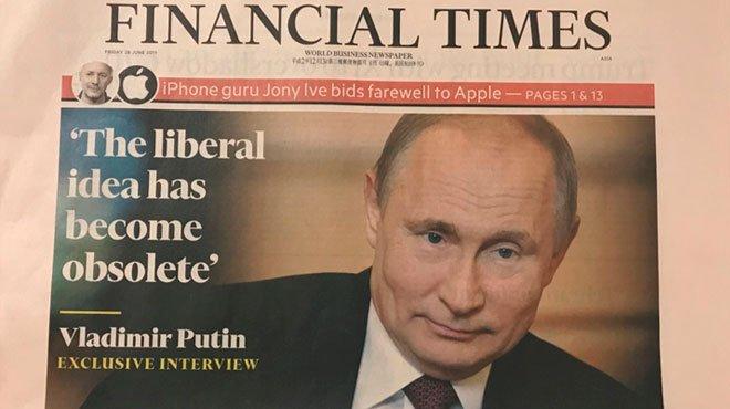日露首脳会談に先立ち、英大手紙がプーチン独占取材 「リベラルの限界」を語る
