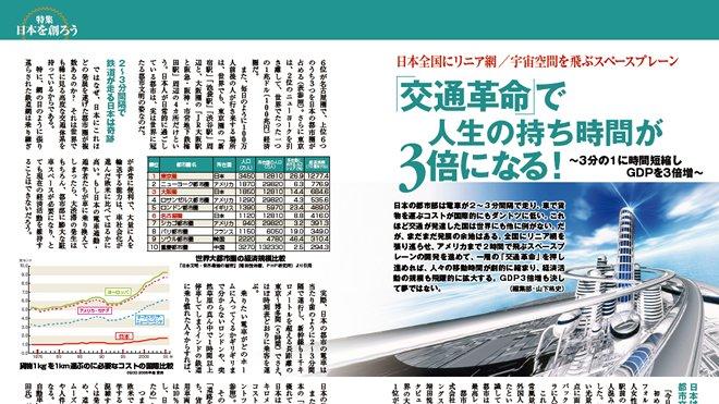 【日本を創ろう】(2) 交通革命で人生の持ち時間が3倍になる!