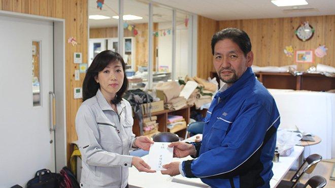 熊本地震ルポ 益城町を訪れ、支援金を寄付 幸福実現党・釈党首