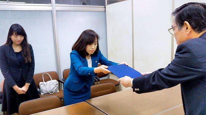 幸福実現党、香港問題と防災への対応で安倍首相に要望書を提出