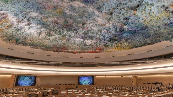 国連人権理事会で「慰安婦強制連行の報告書、根拠にマンガ」と証言