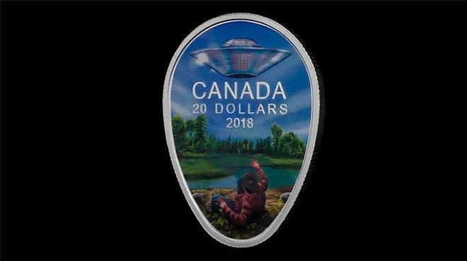 カナダ造幣局がUFO事件の記念硬貨を発売