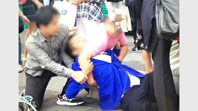 【動画あり】「俺は学会の者だ」 幸福実現党の運動員に暴行した男が犯行時に叫ぶ