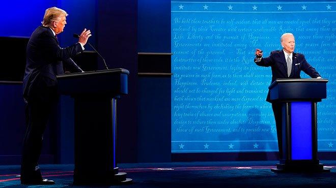 トランプ大統領とバイデン元副大統領のディベート あのブルーステイトでもトランプに軍配