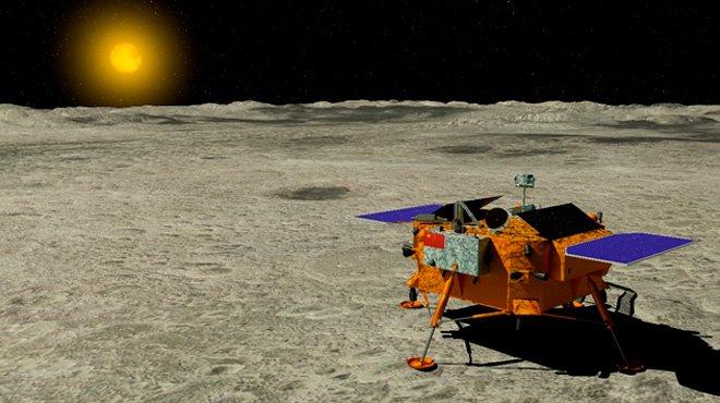 中国の月面無人探査機が月への軟着陸に成功