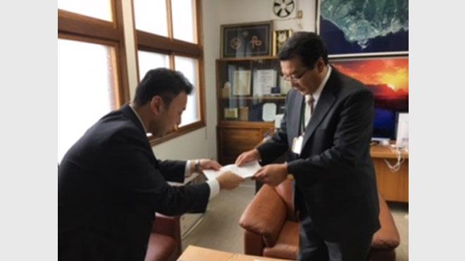 北朝鮮の船が漂着した北海道松前町に、幸福実現党が要望書を提出