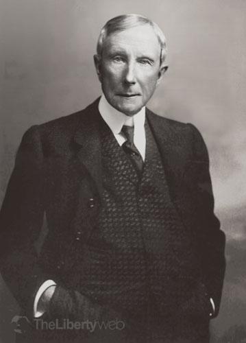 ジョン・D・ロックフェラー (1839─1937) 社会主義の勃興期に自社を急成長させたとあって